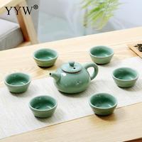 Tea Ceremony China Kung Fu Tea Sets Ceramic Portable Teacup Porcelain Teaset Teapot Water Cup Drinkware Decor Accessories