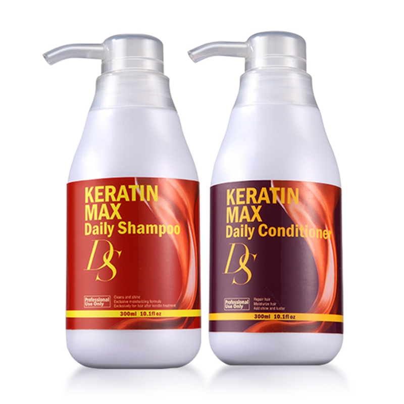 DS Max Deep Cleaning Keratin Treatment Daily Shampoo and Daily Conditioner Care and Repair Professional After Straighten Hair