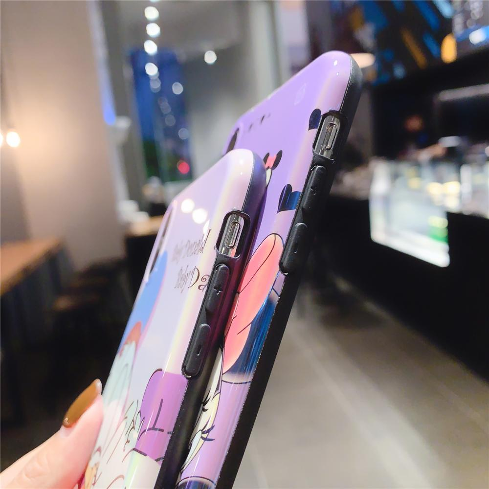 Image 5 - Funny Cute Lovely Girly Cartoon Mouse Phone Case For iPhone X 8 7 6 6s Plus XS 11 Pro Max XR i7P i8P Holder Stand Cover Fundas-in Fitted Cases from Cellphones & Telecommunications