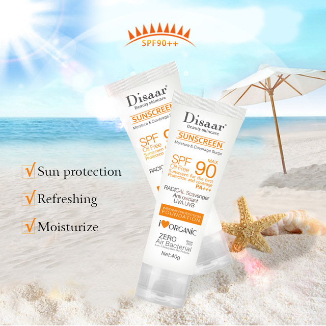 Facial Body Sunscreen Whitening Sun Cream Sunblock Skin Protective Cream Anti-Aging Oil-control Moisturizing SPF90 Face 5
