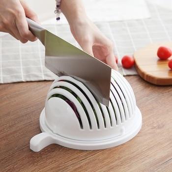 Wonderlife para ensalada de frutas para el hogar cuenco multifuncional para cortar frutas y verduras accesorios  cocina kitchen