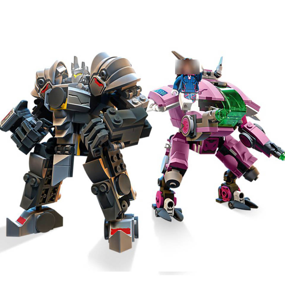 NEW 2019 Compatible Overwatching 75973 Games D.Va & Reinhardt Building Blocks Bricks Toys Gifts For Kids Children