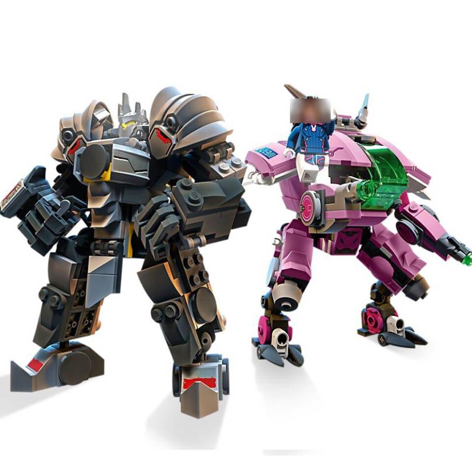 NEW 2019 Compatible Overwatching 75973 Games D.Va & Reinhardt Building Blocks Bricks toys gifts for kids Children