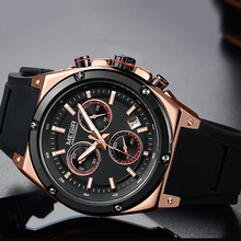 Sport Men Watch Top Brand Luxury Chronograph Quartz Watches Men Relogio Masculino Silicone Army Military Wristwatch Clock