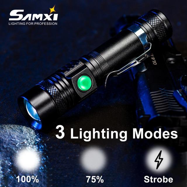 T6/L2/V6 LED el feneri lamba yuvası zumlanabilir Torch şarj edilebilir USB led taktik el feneri su geçirmez linterna 18650