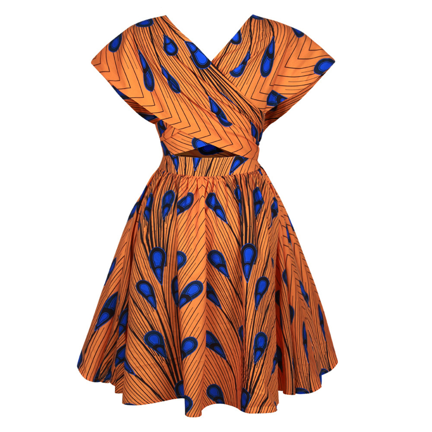 African Dresses For Women 2020 New Dashiki Print Summer Party Dress Bazin Robe Africaine Ankara Fashion Clothing Multifunctional