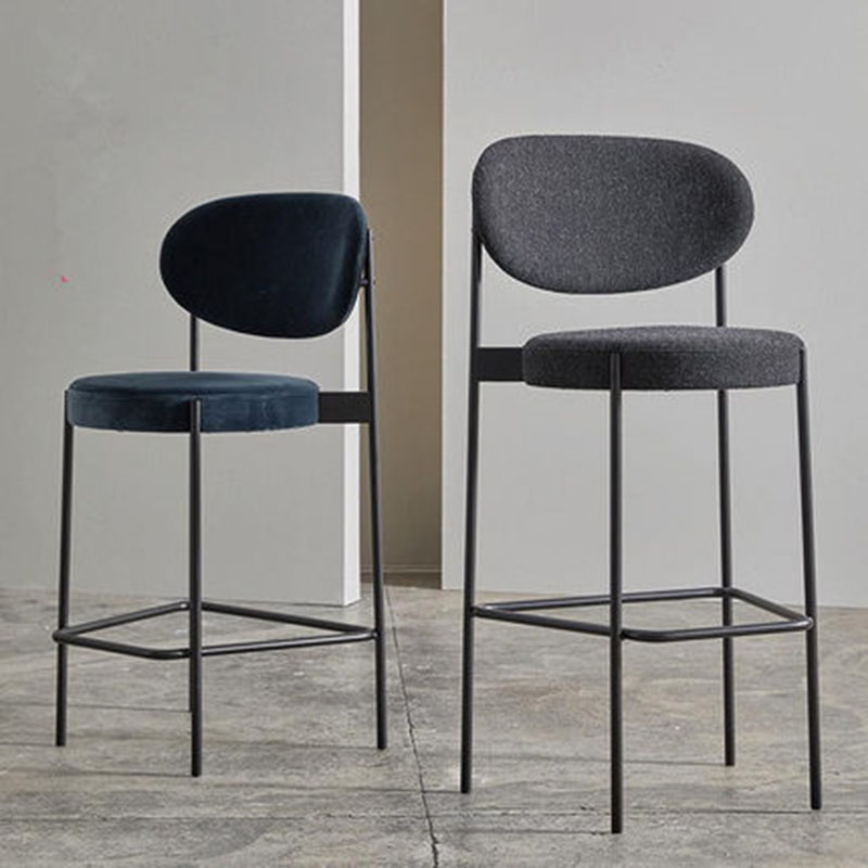 Bar Stool Nordic Modern Minimalist Home High Stool Bar Chair 65/75 CM Seat Height Backrest Dining Chair Family Business Cafe