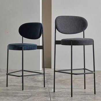Tabouret de Bar nordique moderne minimaliste maison tabouret haut chaise de Bar 65/75 CM siège hauteur dossier à manger chaise famille affaires café