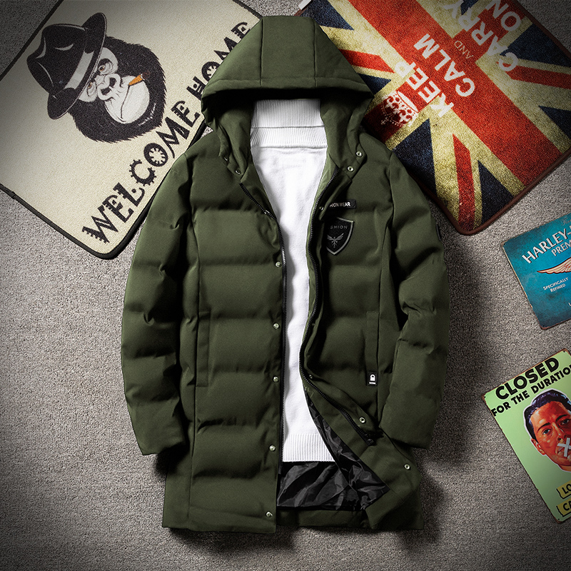 Thoshine Brand Winter Men Thick Parkas Hooded Patch Designs Heavyweight Male Outerwear Warm Jackets Long Cotton Lining Coats