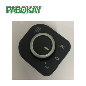 New Chrome Power Side Mirror Adjust Switch Knob For MK5 Golf MK6 Rabbit Eos Passat B6 3C Tiguan 1K0 959 565 5ND959565B
