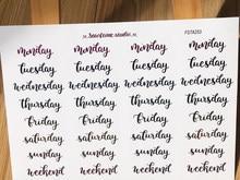 1pc semana inglês palavras adesivo adesivos kawaii adesivo decorativo diy planejador diário scrapbooking álbum adesivos