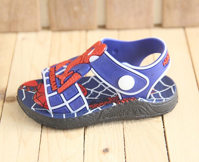 Image 5 - 2020 Летняя детская обувь; Модные сандалии для мальчиков с человеком пауком; Повседневные Нескользящие резиновые детские сандалии; Пляжная обувь для малышей; InfantilСандалии   -