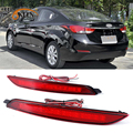 2 шт. для Hyundai Elantra MD Avante 2012 2013 2014 Светодиодный отражатель заднего бампера светильник задний стоп-светильник 12 в красный цвет 5 Вт