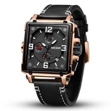 Fashion Luxury Men Quartz Sports Watches Top Brand Leather Strap Creative Waterproof Wristwatches Man Clock