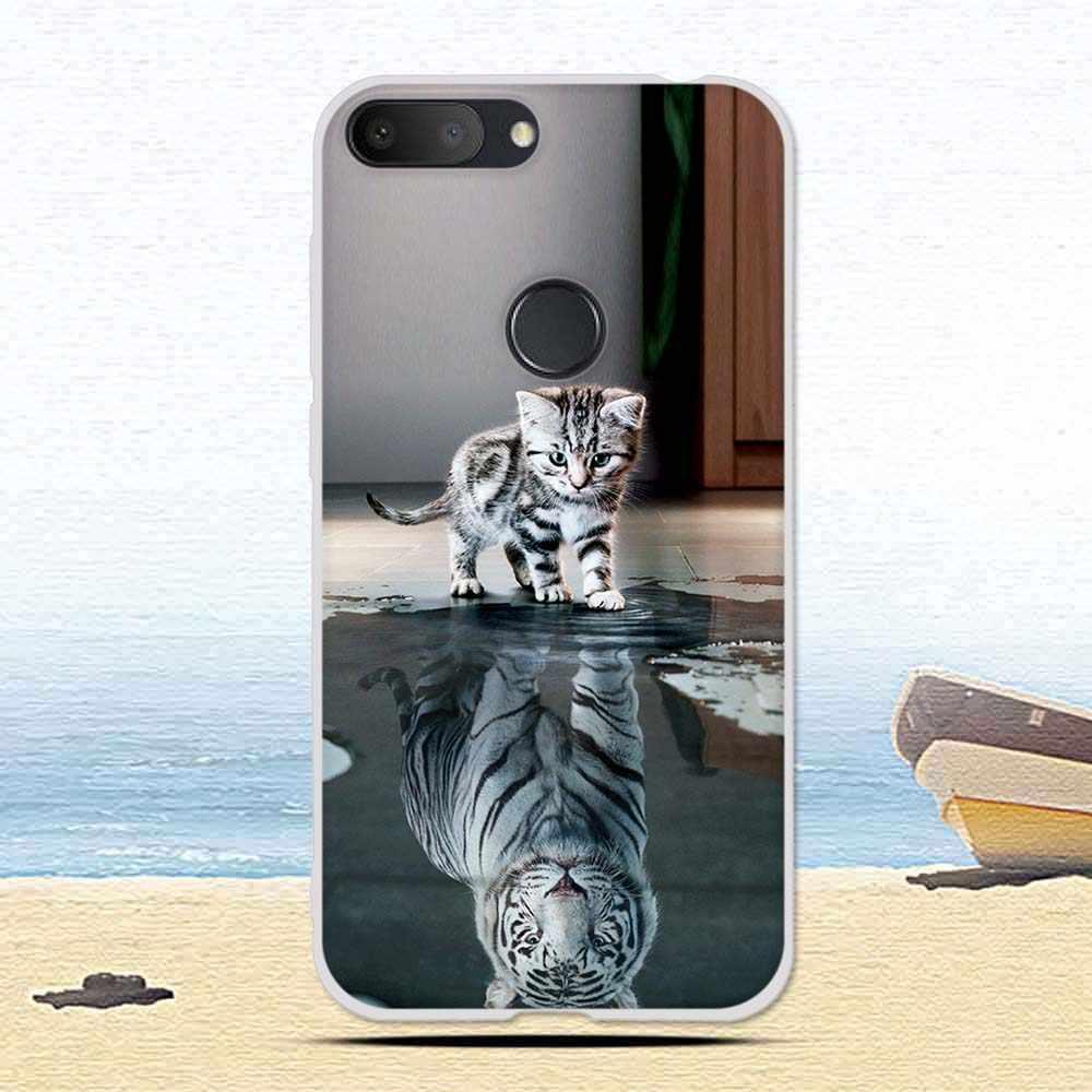غلاف هاتف ألكاتيل 1 S 1 S 2019 كارتون القط لطيف منقوشة لينة سيليكون الغطاء الخلفي ل الكاتيل واقية الهاتف شل حالات كوكه
