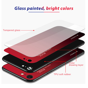 Image 2 - Gradient Tempered Glass Case For iPhone XR 7 8 6 6s Plus on the For iPhone X XS XS Max Phone Cases Cover Protective Fundas