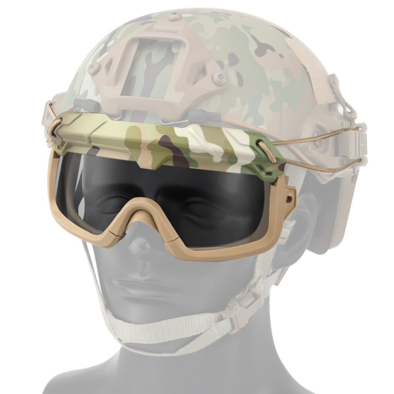 Airsoft Hunting Glasses Goggles Shooting Glasses Windproof Wargame Goggles Helmet Eyewear Paintball Eye Protection Glasses ZX00