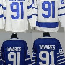 А+++ Качественная мужская футболка для взрослых#91 John Tavares Toronto