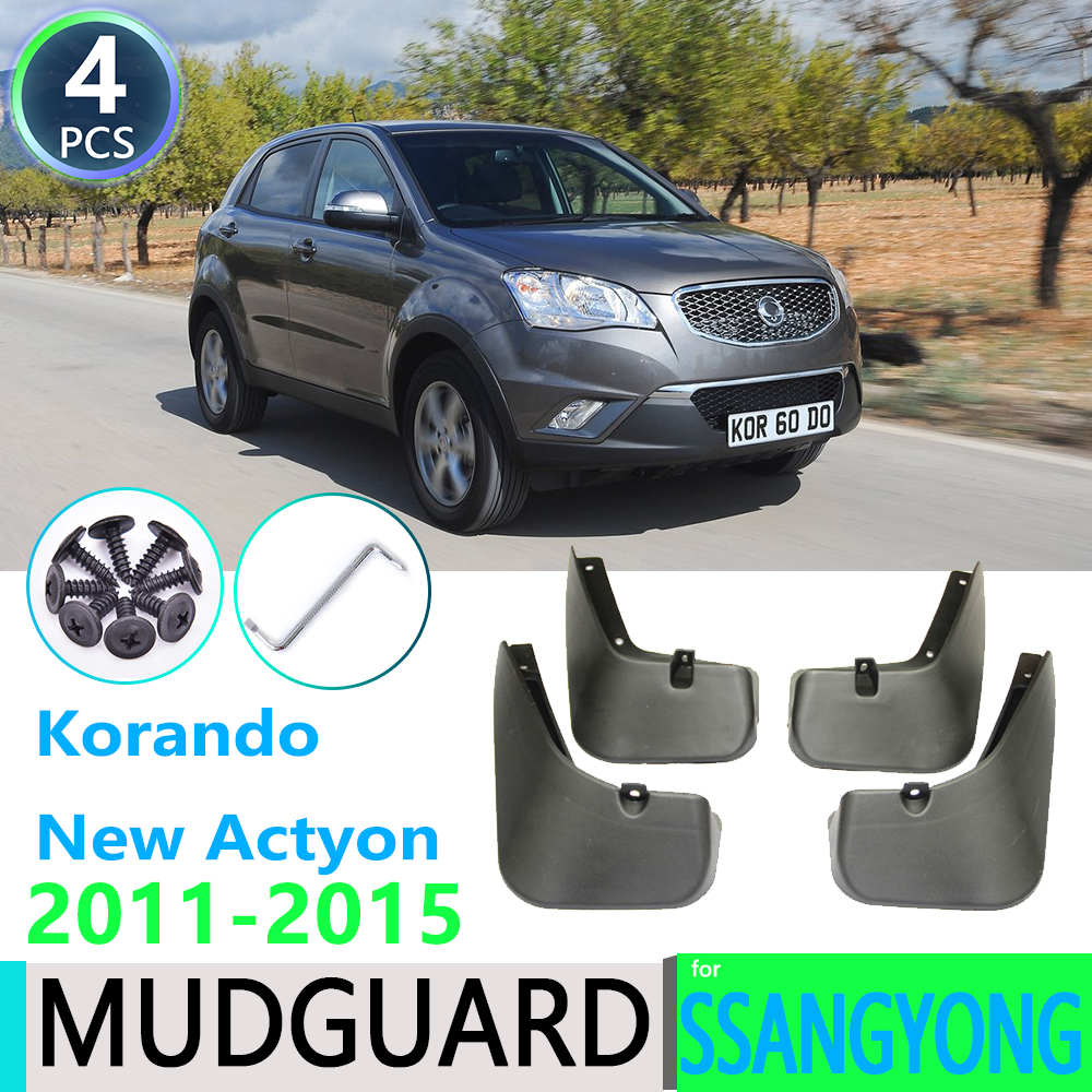 for SsangYong Korando New Actyon C200 2011 2012 2013 2014 2015 Car Fender Mudguard Mud Flaps Guard Splash Flap Car Accessories image