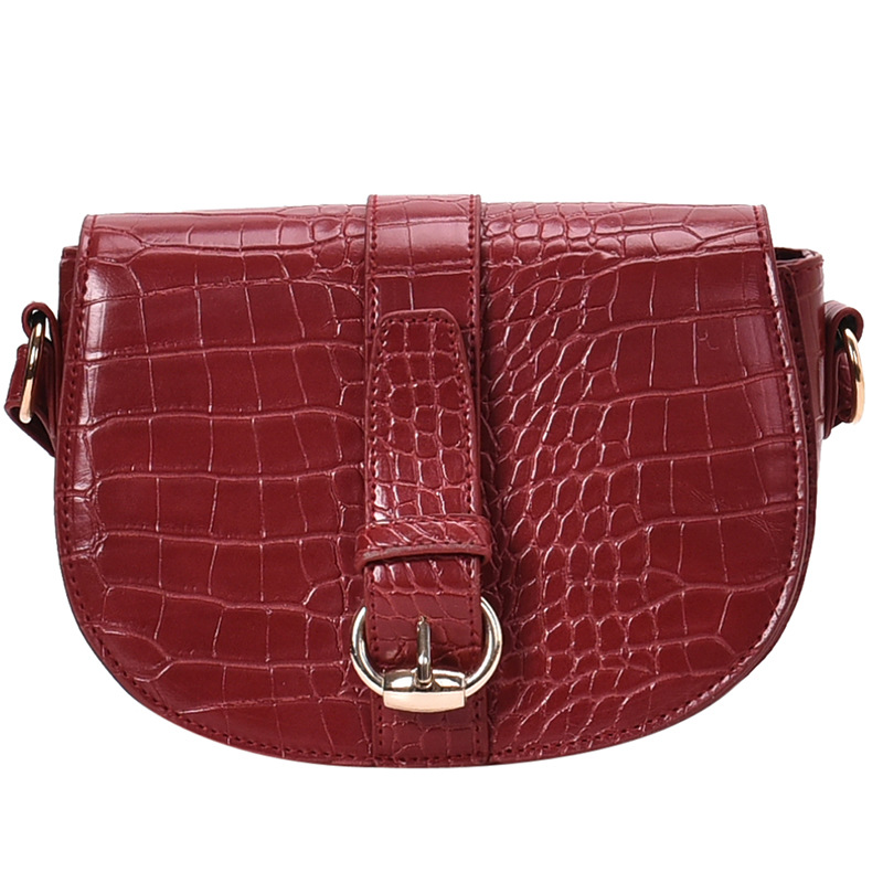 New winter fashion saddle bag texture new 2019 small bag handbag tide advanced texture retro simple Messenger bag shoulder bag