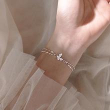 Dwuwarstwowa Lucky Round Chain srebrna kolorowa bransoletka dla kobiet dziewczynki prosta modna modna biżuteria na prezent SL2460 tanie tanio Chain link bransoletki Kobiety Tybetański srebrny CN (pochodzenie) Moda Śliczne Romantyczny Cyrkonia Zroszony Bransoletka
