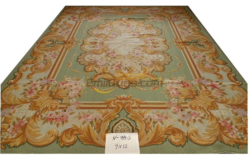 Handmade Aubusson Carpet N-155g 6x9 2 Hand Knotted  Home Decoration Bedroom Gc8aubyg13