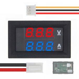 """Image 1 - DC 0 100V 10A voltmètre numérique ampèremètre double affichage détecteur de tension courant mètre panneau ampèremètre 0.28 """"rouge bleu LED"""