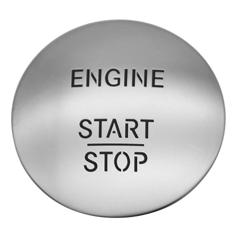 Keyless go start stop botão interruptor de ignição do motor 2215450714 prata para todos os modelos benz com um clique interruptor de partida