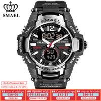 SMAEL-relojes deportivos digitales para hombre, de cuarzo, LED, resistente al agua hasta 50M, 2021