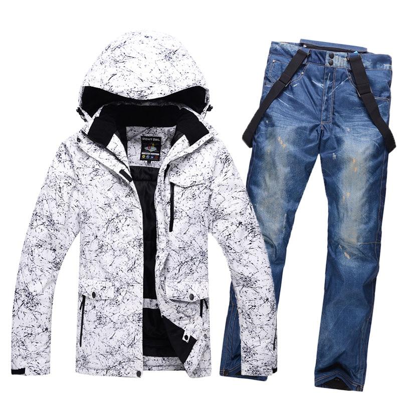 New Thicken Warm Men Women Couples Ski Suit Winter Windproof Waterproof Skiing Suits Male Snowboard Jacket Pants Suit Plus Size