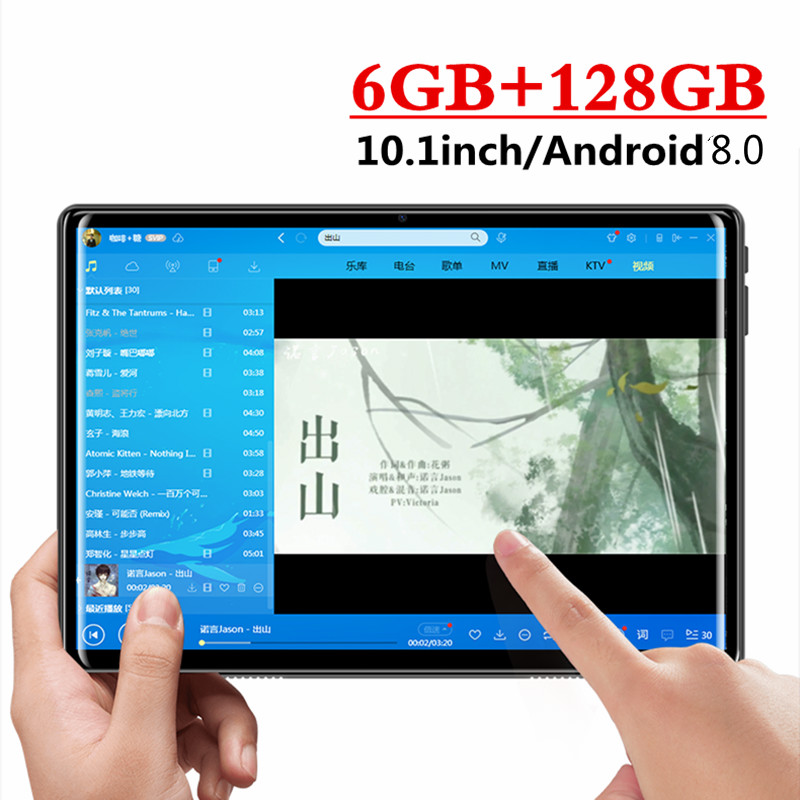 2020 New 10 Inch Tablets Android 8.0 10 Core Ram 6GB ROM 128GB Dual Camera 5.0MP Dual SIM 4G Call Phone Tablet PC Wifi GPS Gift