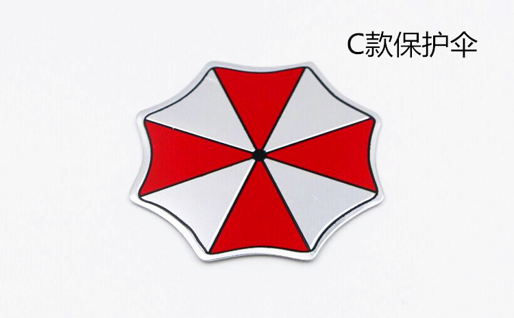Image 5 - 3D Aluminum Umbrella Corporation Resident Evil Stickers Emblem Badge Car Trunk Metal Sticker Decal with Self Adhesive-in Car Stickers from Automobiles & Motorcycles