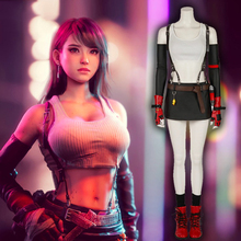 Game Final Fantasy Cosplay Costumes Tifa Lockhart Cosplay Costume Halloween Carnival Party Anime Women Cosplay Costume цена и фото