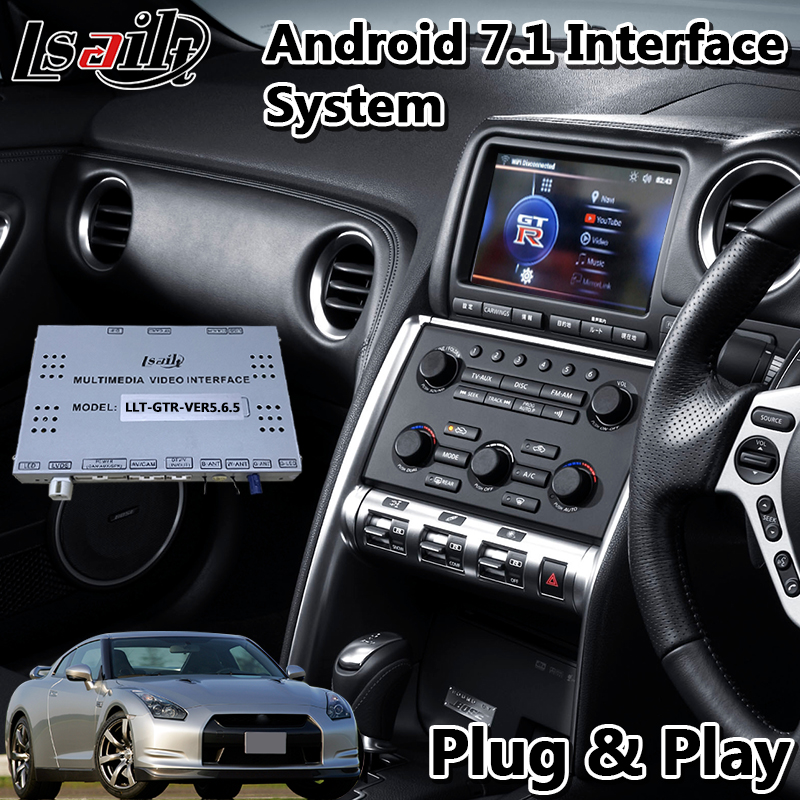 Lsailt Android Car GPS Navigation Video Interface for 2008-2010 year Nissan GTR GT-R R35 With Wireless Carplay