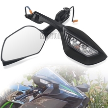 Для Kawasaki ZX10R ZX10 ZX 10 R 2011 2012 2013 2014 2015 2014-2015 мотоцикл с широким углом обзора зеркала заднего вида светодиодный поворотник светильник
