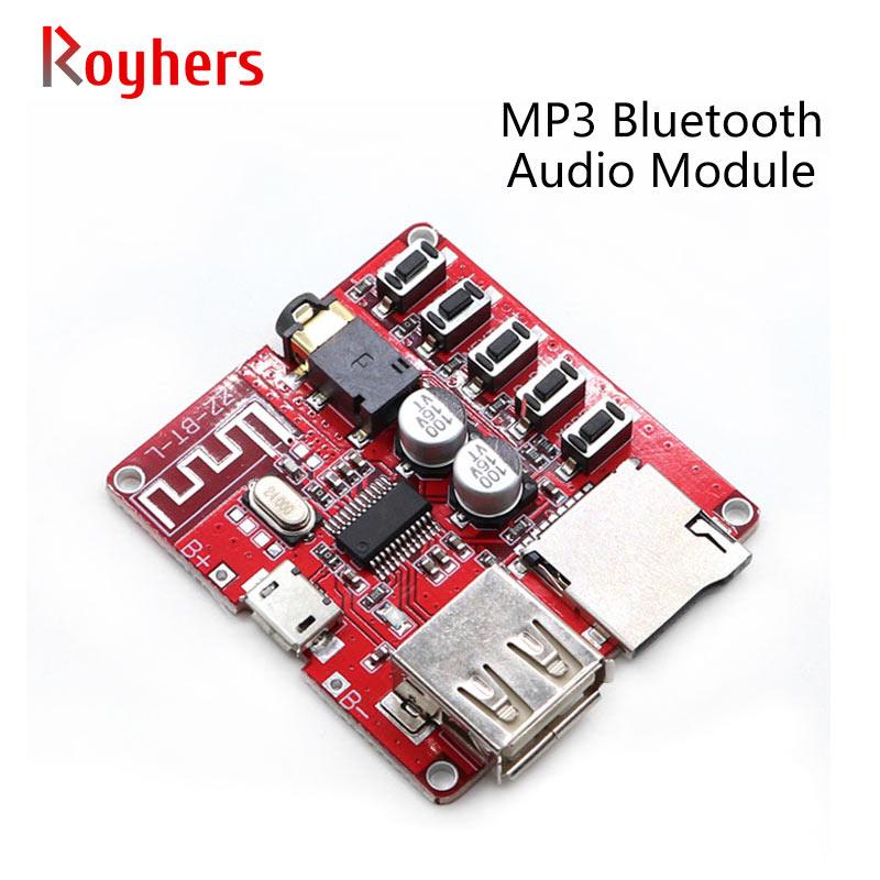 1 pçs mp3 módulo de áudio bluetooth alto-falante sem perdas decodificador placa de recepção diy carro alto-falante amplificador modificação