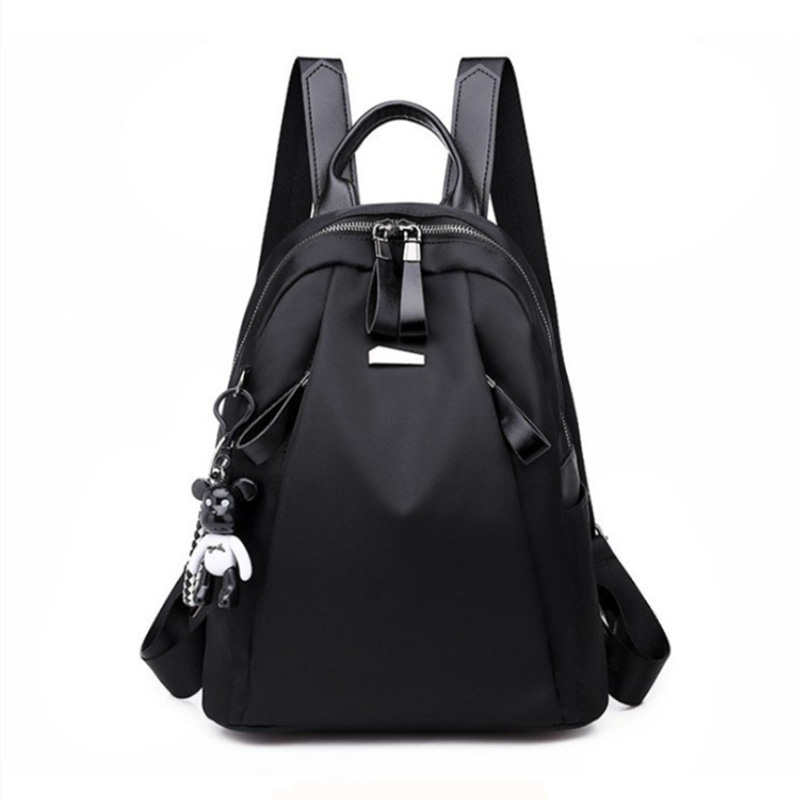 Bear Backpack Female Oxford Cloth Korean Version Of The Tide Wild Backpack Fashion Casual Female Bag Travel Bag