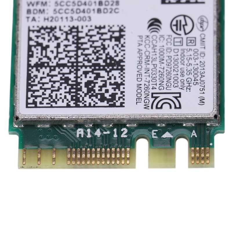 Nueva marca para Intel 7260NGW 7260Ac 7260 Ac 2,4/5G BT4.0 FRU 04X6007 para Thinkpad X250 X240 X240S X230S T440 W540 T540 Yoga Y50
