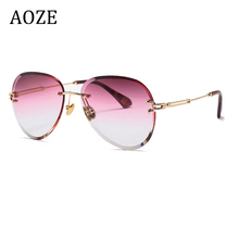 2020 pink fashion no hoop women's sunglasses luxury aviation