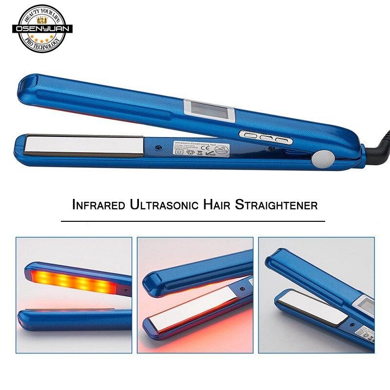 Профессиональный Выпрямитель для волос, Утюги, ультразвуковой инфракрасный утюжок для волос с ЖК дисплеем, плоская железная доска для восстановления поврежденных волос|Утюжки для выпрямления|   | АлиЭкспресс