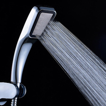 Anpro 300 agujero cuadrado de alta presión baño lluvia ducha cabezal de ducha de mano cabezal de ducha para ahorrar agua filtro rociador cabeza