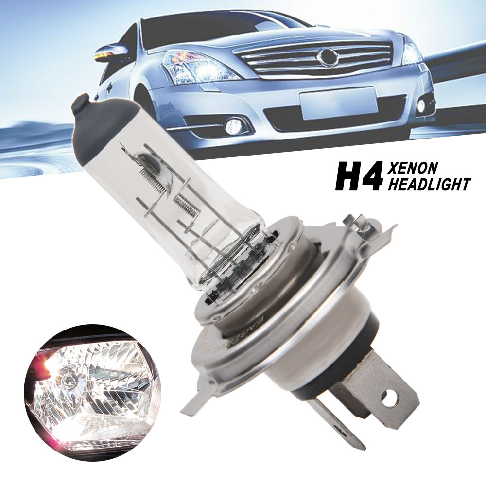 Clear Light H4 Headlight Bulb Halogen Bulb H4 100W 12V 6000K Car Headlights Car Accessories For P43T Lamp Holder