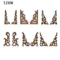 YJXDM Zier Vintage Geschnitzt Decor Blätter Holz Möbel Schrank Hause Dekoration Ecke Holz Aufkleber Onlay Holz Applique NEUE
