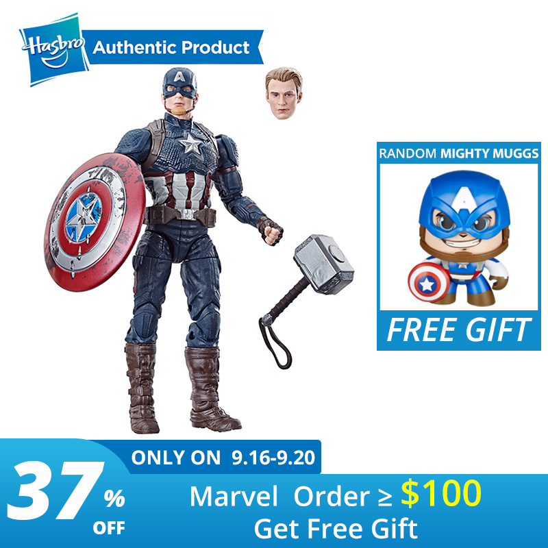 Hasbro Marvel Legends 6-Inch Captain America Power And Glory Exclusive with Mjolnir Hammer Avengers And Hail Hydra Arnim Zola
