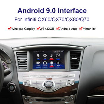 Android system car Radio player Video interface for Infiniti QX/QX60/QX70/QX80/Q70 GPS navigation interface support Youtube, image