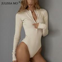 Julissa mo сексуальный вязаный боди с v-образным вырезом женский черный комбинезон с длинным рукавом и пуговицами женский комбинезон повседневные Цельные боди