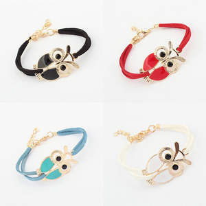 Bracelet Gifts Fashion Pearl of Wild-Colored-Owl The Korean-Version Explosion Hot-Selling