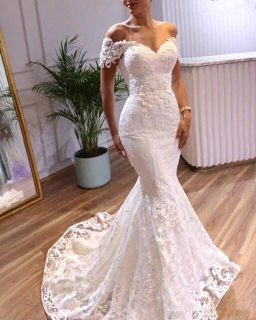 Angelsbridep Off-Shoulder Mermaid Wedding Dresses Vestidos De Novia Sweetheart Appliques Tulle Formal Bridal Gowns Suknia Slubna 1