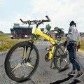 Nueva bicicleta eléctrica de 26 pulgadas plegable aleación de magnesio integrado rueda de acero al carbono 36V 250W ciudad/montaña/carretera bicicleta E