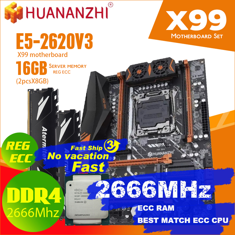 atermiter X99 D4 motherboard set with Xeon E5 2620 V3 LGA2011 3 CPU 2pcs X 8GB =16GB 2400MHz DDR4 memory|Motherboards| - AliExpress